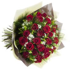 Buquê de Rosas Importadas-Vermelho-36