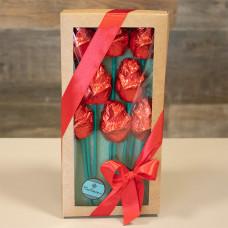 Caixa com 8 Rosas de Chocolate da Bellíssimo ChocoArte