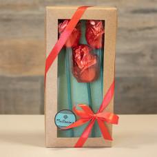 Caixa com 3 Rosas de Chocolate da Bellíssimo ChocoArte