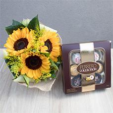 Mimo de Girassol com Ferrero Collection