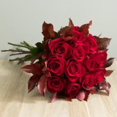 Ramalhete de 12 Rosas Importadas - Vermelho