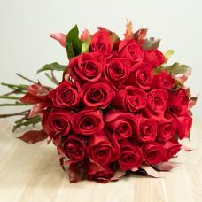 Ramalhete de 24 Rosas Importadas - Vermelho